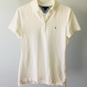 90s Tommy Hilfiger Classic White Women's Polo | M